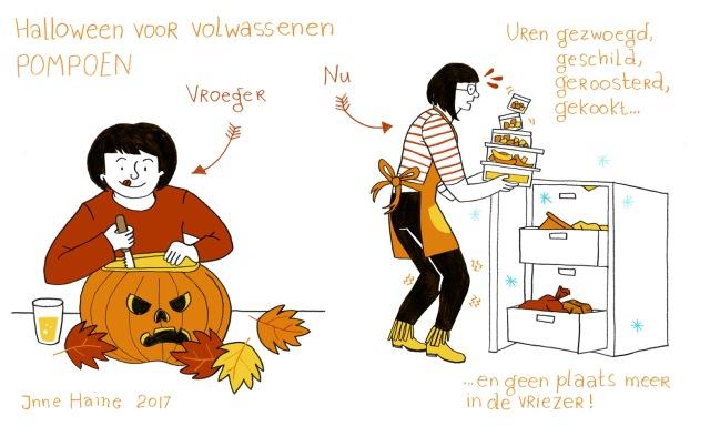 cartoon 002 - Inne Haine - Halloween pompoen