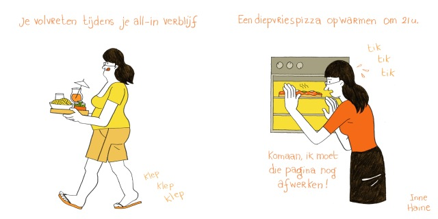 Cartoon_Vakantie_3_eten_(samen)